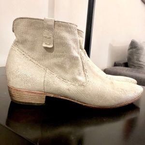 Giove Vero Cuoio Lizard Genuine Leather Ankle Boot